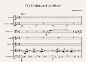 Elephant and Mouse title page
