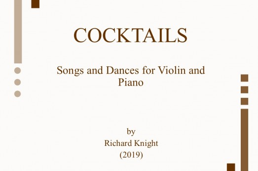 Cocktails – Songs and Dances for Violin and Piano