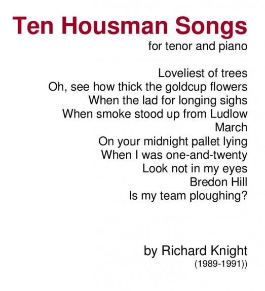 Ten Housman songs