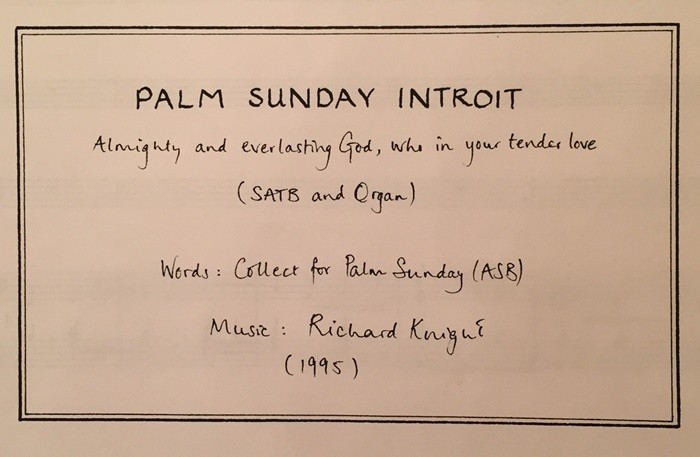 Palm Sunday Introit