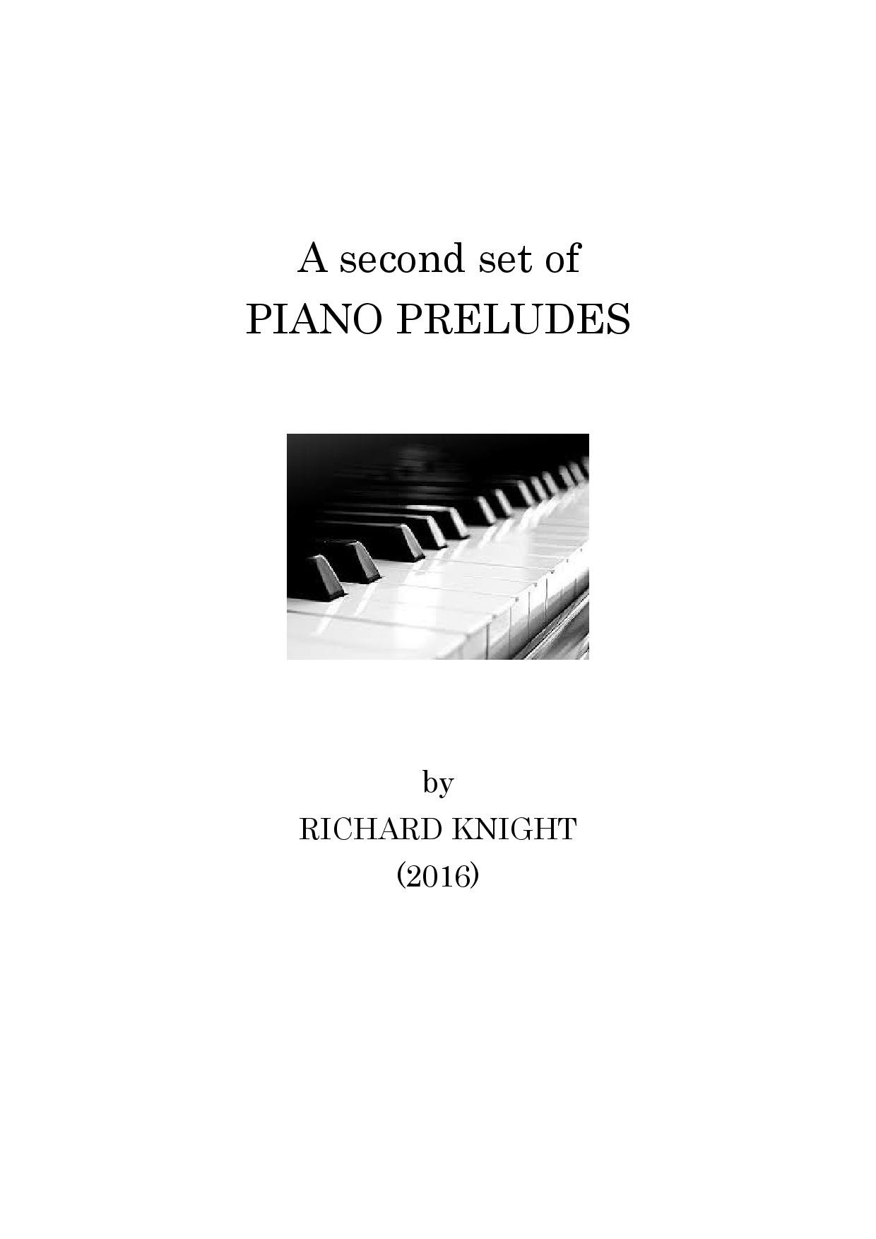 Second set of Piano Preludes