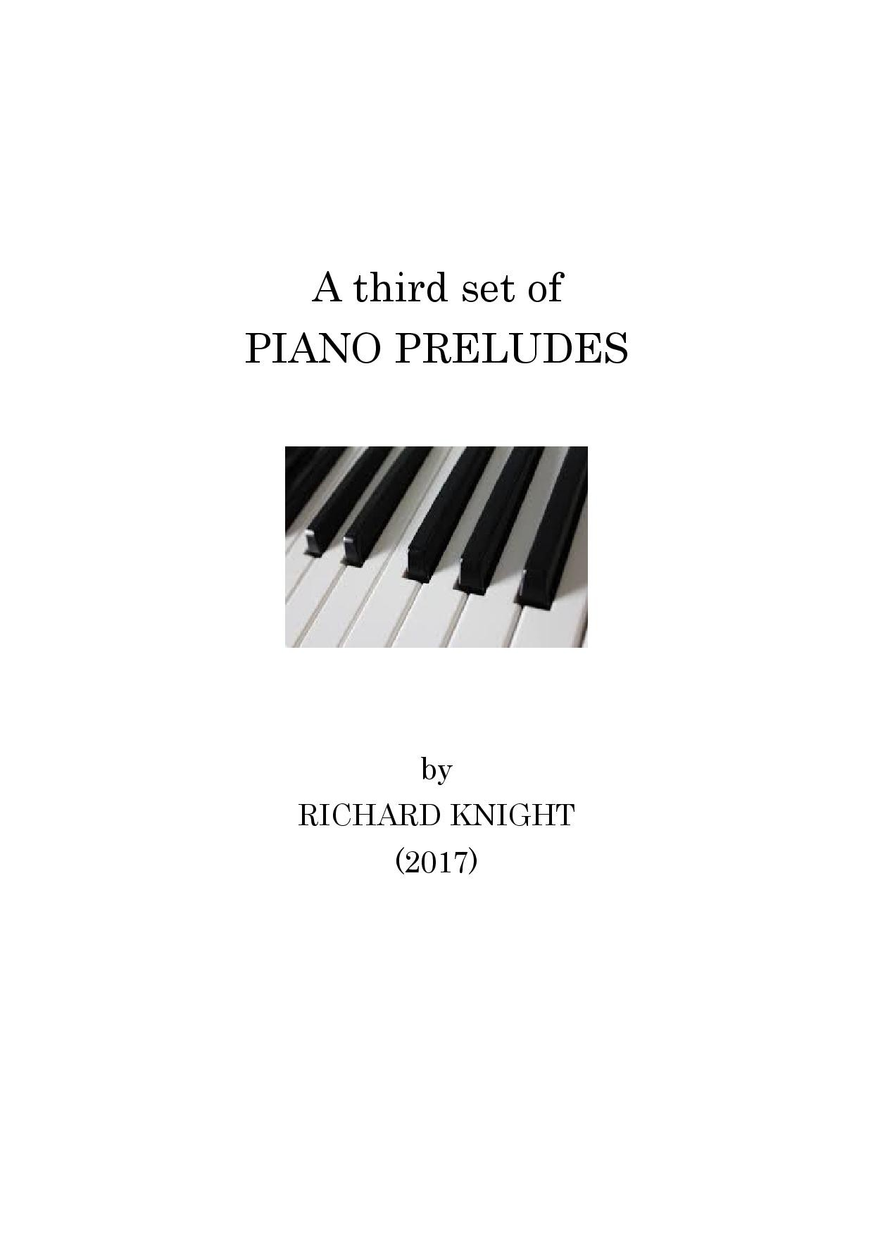 Third set of Piano Preludes